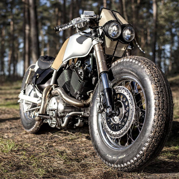 the yamaha virago from cruiser to cafe racer. Black Bedroom Furniture Sets. Home Design Ideas