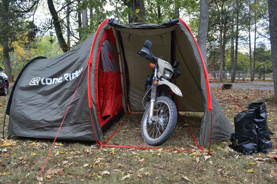 Going Undercover With the Best Motorcycle Tent ...